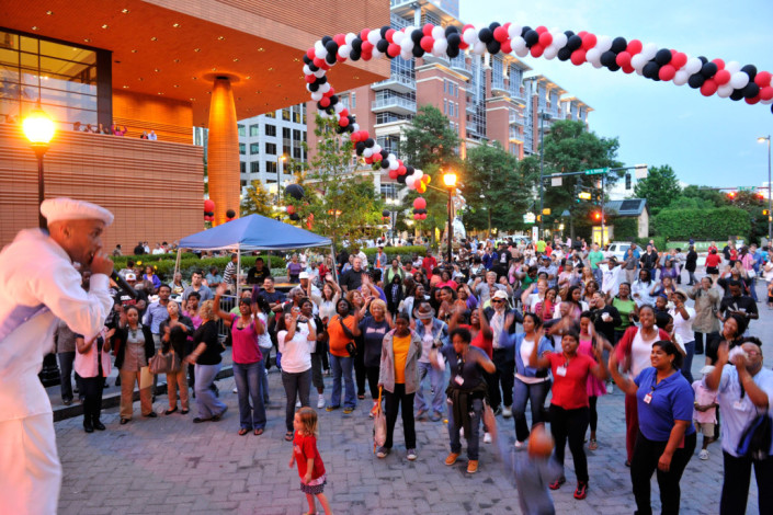 An outdoor festival on Charlotte's Cultural Mile in the heart of Uptown.