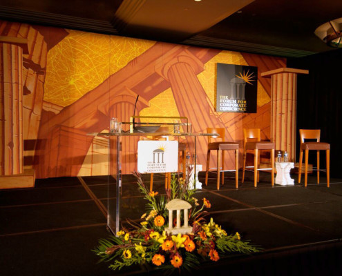 Custom stage build for a conference for CEO's, thought leaders and strategist from around the country.