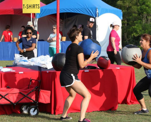 As part of the healthy living festival, local exercise and sports companies came out to show participants quick and easy exercises they could do at home.