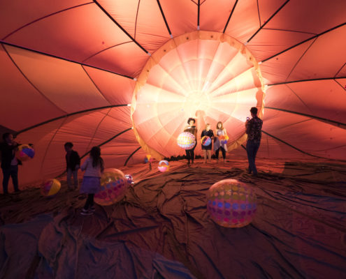 Guests were able to explore the inside of a hot air balloon at this fundraiser.