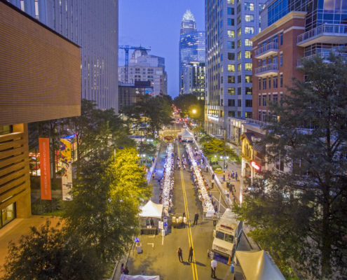 A street closure made for an epic annual community dinner.