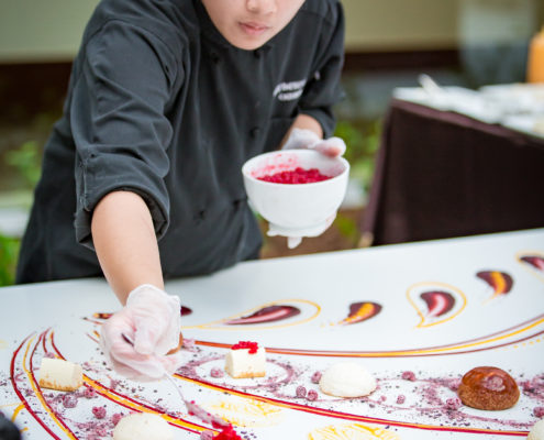 Dessert transformed into art was a focal point at the grand opening of an art building.