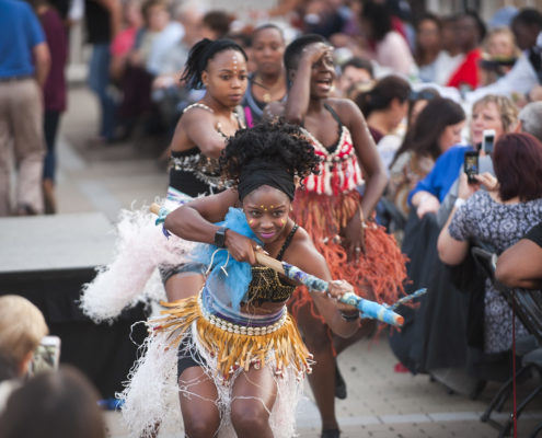 At this annual community dinner, guests were treated to a variety of entertainment including these spectacular dancers showcasing traditional African cultural dance.